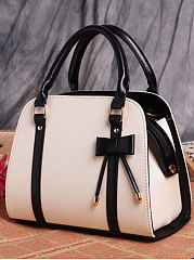 Luxury Bowknot Plain Hand Bag For Women