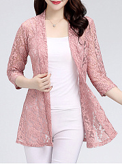 Lace  Long Sleeve Cardigans