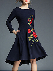 Round-Neck-Embroidery-Blend-Evening-Dresses