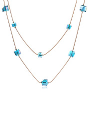 Crystal Cube Long Necklace