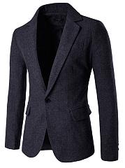 Men-Notch-Lapel-Plain-Single-Button-Vented-Blazer