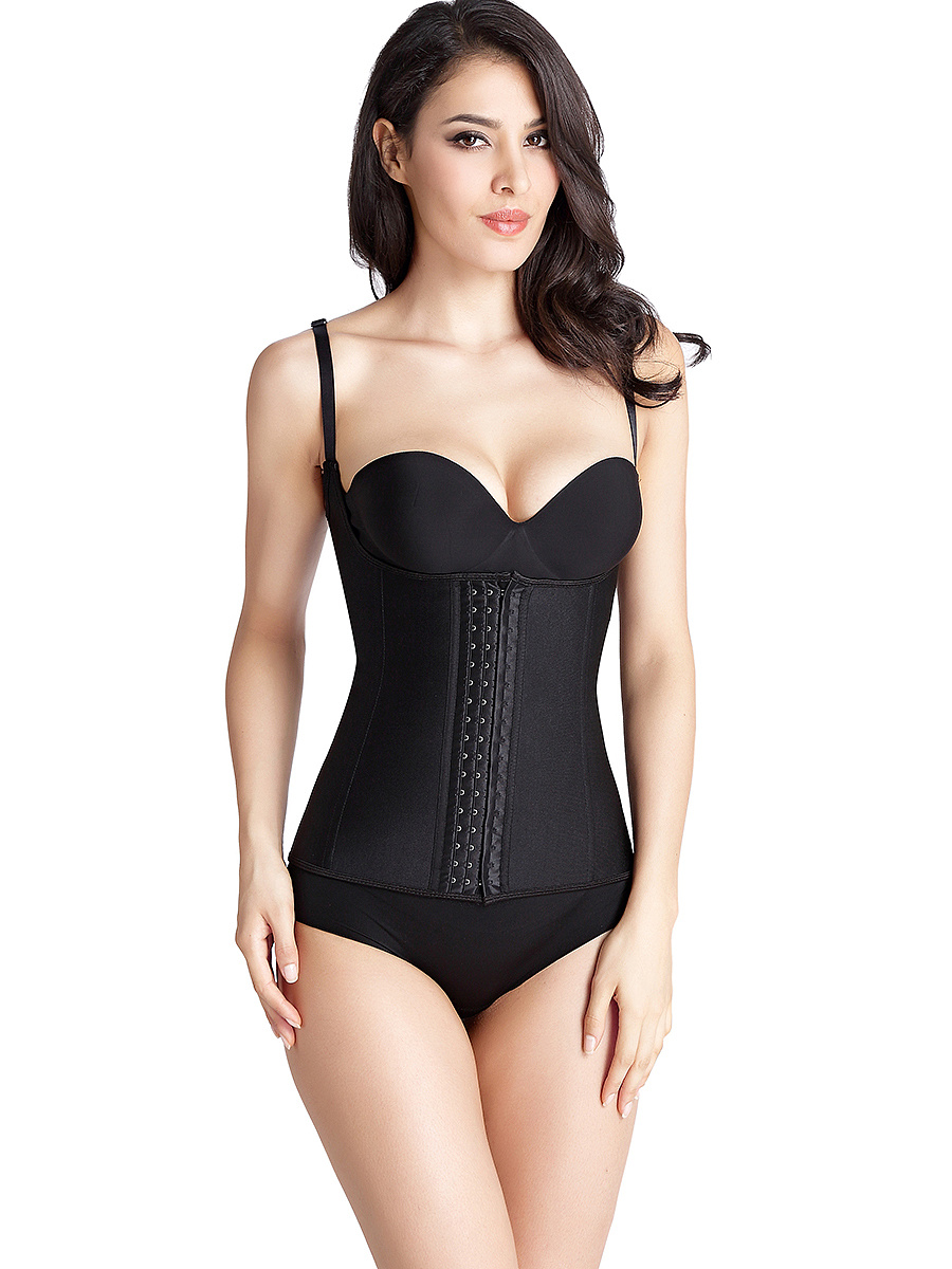 Contrast Trim Waist Slimming Under Bra Corset