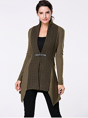 Collarless Patchwork Single Button Plain Cardigans; Collarless Patchwork  Single Button Plain Cardigans ...