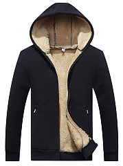 Hooded-Pocket-Plain-Men-Fleece-Lined-Coat
