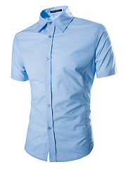 Plain-Men-Short-Sleeve-Shirts