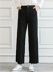 Casual-Plain-Pocket-Wide-Leg-Casual-Pants
