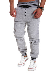 Striped-Elastic-Waist-Mens-Casual-Jogger-Pants