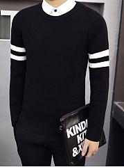 Round-Neck-Contrast-Striped-Mene28099S-Sweater