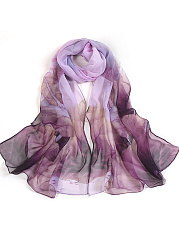 Gauze Floral Printed Long Scarves