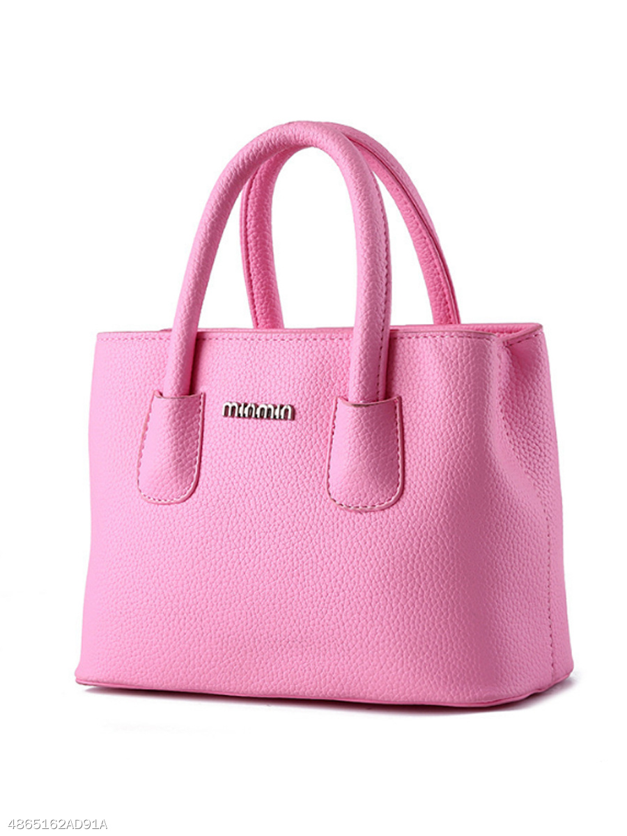 Simple Stylish Pu Hand Bag