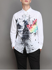 Abstract-Print-Turn-Down-Collar-Men-Shirts