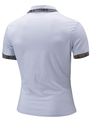 Polo Collar Men Contrast Trim T-Shirt