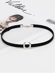 Crescent Adjustable Choker Necklace