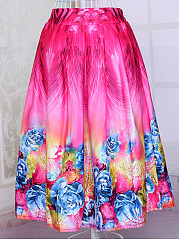 Remarkable-Printed-Flared-Midi-Skirt
