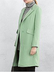 Plain  Long Sleeve Coats