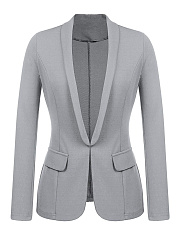 Shawl Collar  Plain Blazer