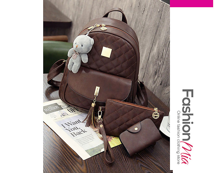 Three Pieces Chic Women Backpacks