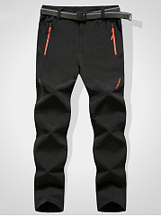 Mens-Casual-Elastic-Waist-Pocket-Straight-Pants