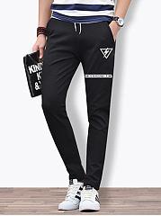 Mens-Casual-Pocket-Printed-Slim-Leg-Pants
