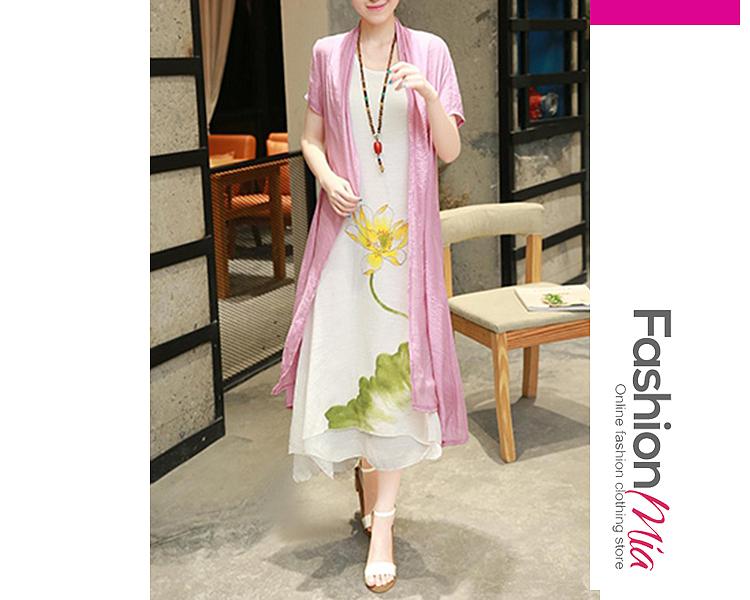 Round Neck  Printed Maxi Dress 49D31B46A5B0