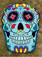 Colorful-Skull-Shape-Printed-Beach-Shawl