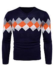 V-Neck-Color-Block-Plaid-Mene28099S-Sweater