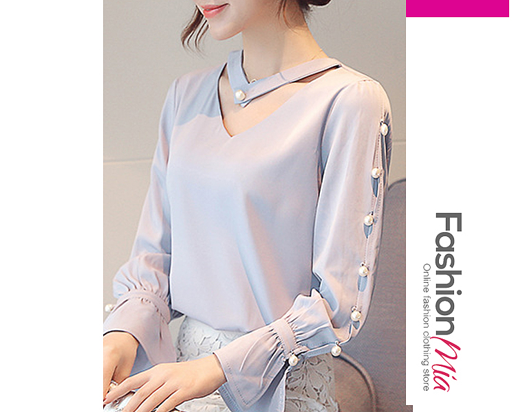 gender:women, hooded:no, thickness:regular, brand_name:fashionmia, style:elegant,fashion,japan & korear, sleeve:long sleeve, embellishment:beading, pattern_type:plain, how_to_wash:cold  hand wash, occasion:basic,daily, season:autumn,spring, package_included:top*1, lengthshouldersleeve lengthbust