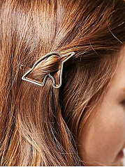 Gold Unicorn Shape Hair Clip
