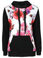 Floral-Printed-Kangaroo-Pocket-Hoodie
