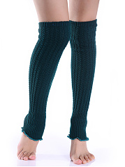 Knit Winter Flounce Leg Warmers