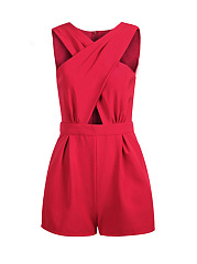 Split-Neck-Hollow-Out-Romper
