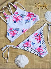 Strappy-Back-Floral-Striped-Bikini