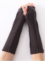 Thick Winter Fingerless Gloves