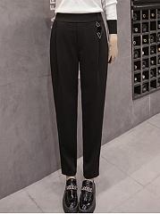 Plain-Pocket-Slim-Leg-Casual-Pants