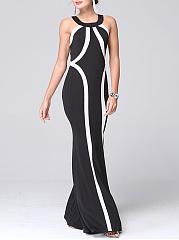 Round-Neck-Color-Block-Mermaid-Maxi-Dress