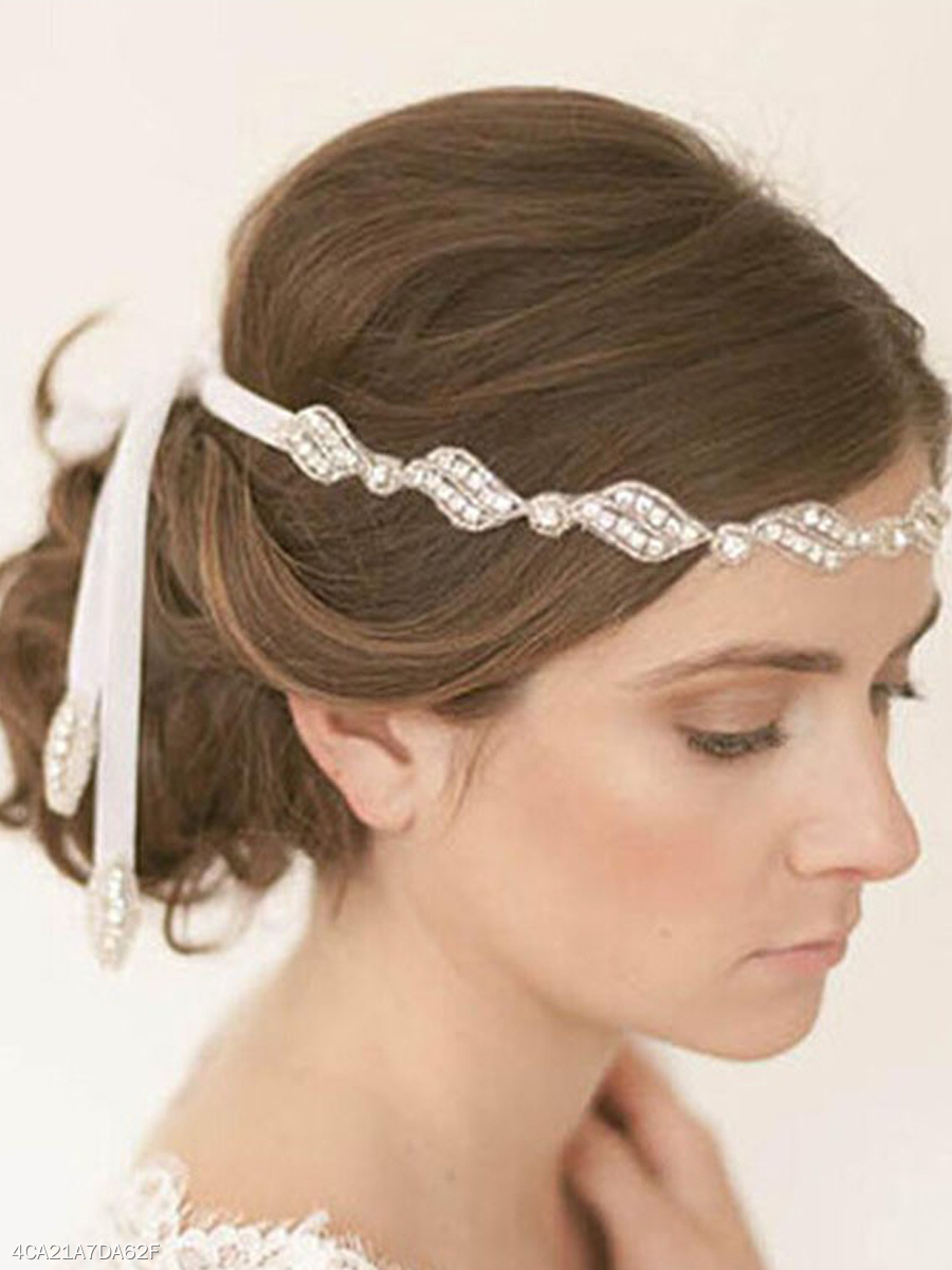 Rhinestone Bead Hair Band