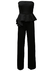 Strapless-Peplum-Plain-Straight-Jumpsuit