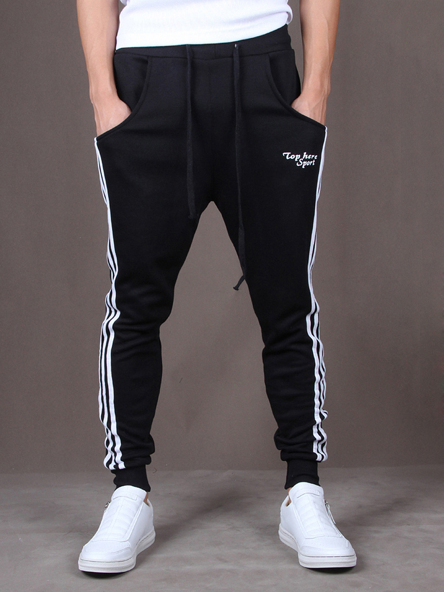 Striped Pegged Pocket Men's Casual Pants