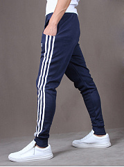 Slit Pocket  Striped  Pegged Men's Casual Pants