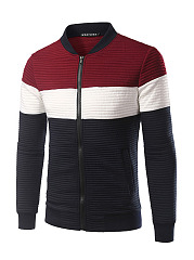 Men-Band-Collar-Zip-Color-Block-Jacket