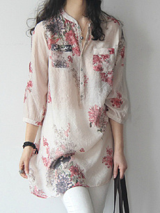 Polyester  Floral Printed Blouses