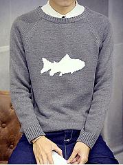 Round-Neck-Shark-Men-Sweater