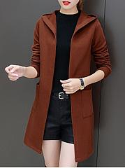 Hooded-Patch-Pocket-Plain-Longline-Cardigan