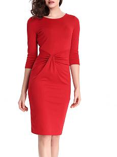Ribkoff cute Fold-Over Collar Plain Blend Bodycon Dress stores usa london