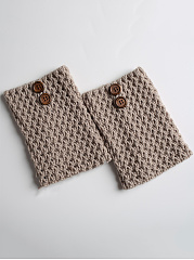 Decorative Button Leg Warmer