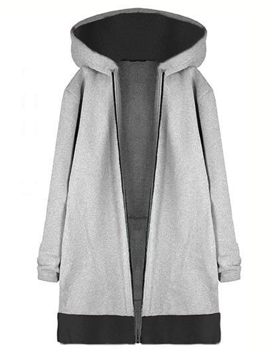 Sleeve Long Color Block Sleeve Block Color Coats Coats Long Color 7x8qBw