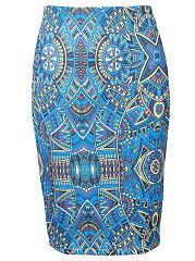 Graceful-Pencil-Printed-Midi-Skirt