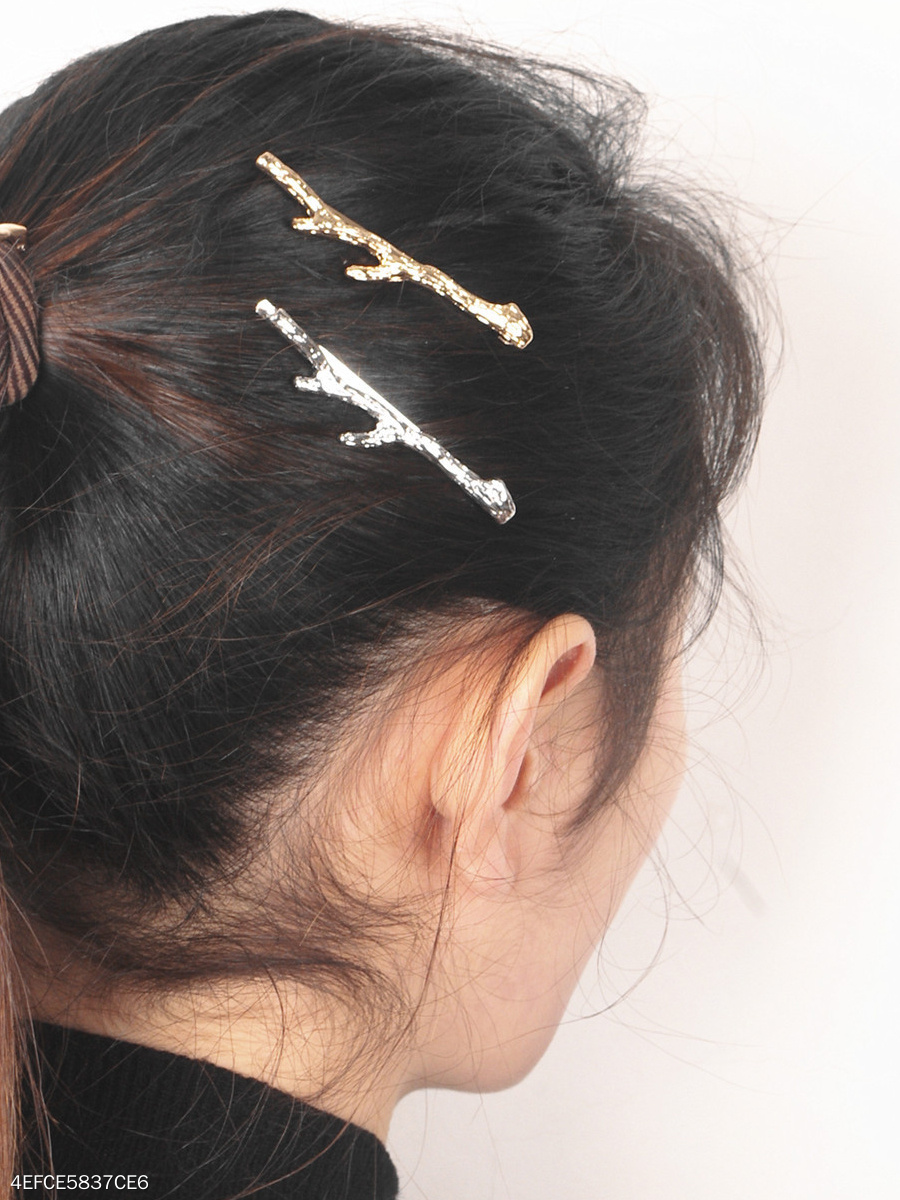 Gold Branch Shape Hair Clip