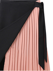 Color Block A-Line Midi Skirt