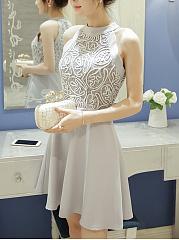 Ireland Halter Backless High Slit Plain Sleeveless Maxi Dresses for cruises with bell
